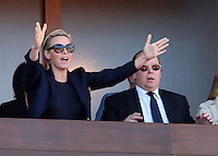 Prince Albert Of Monaco & Charlene attend the final match at the Monte-Carlo Rolex Masters