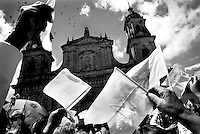 colombia1002 ? Virgin of Chiquinquira (patron saint of Colombia) peace march, Bogota, July 1999<br />