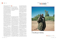 Tearsheet of &quot;Mali: Battle for Diabaly&quot; published in Courrier Internacional