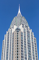 The RSA Battle House Tower, the tallest building in the state, in downtown Mobile, Alabama.