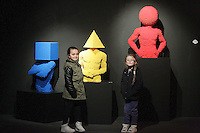 11/04/14 (NO FEE PICS) Abi Burton (8) and Carlie OConner (8) at The Art of the Brickcoming to The Ambassador Theatre.Exhibition featuring art created out of LEGO®bricks on show in Dublin running from 12th April 2014 for a limited period. Pic Stephen Collins/Collins Photos