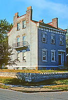 Alton: Juttemeyer House, 604 Langdon St. 1850's Transitional--from Federal to Italian/Greek. Photo '77.