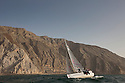 Sailing Arabia The Tour 2012. Leg 4, Ras Al Khaimah - Dibba. Oman Pictures of the Farr30s as they pass through the Musandam peninsula. The Gulf of Oman .Credit: Lloyd Images