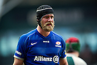 Alistair Hargreaves of Saracens looks on during a break in play. Aviva Premiership match, between Leicester Tigers and Saracens on March 20, 2016 at Welford Road in Leicester, England. Photo by: Patrick Khachfe / JMP
