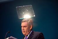Prime Minister and Labour Party leader Gordon Brown gives a speech to nurses at a conference in Bournemouth.