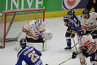 IJSHOCKEY: EINDHOVEN: IJssportcentrum, 11-01-2015, Bekerfinale Destil Trappers Tilburg - UNIS Flyers Heerenveen, Goalie Martijn Oosterwijk (#30   Heerenveen), ©foto Martin de Jong