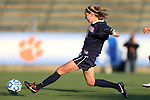 02 November 2012: Virginia's Morgan Brian scores the game's second goal. The Florida State University Seminoles played the University of Virginia Cavaliers at WakeMed Stadium in Cary, North Carolina in a 2012 NCAA Division I Women's Soccer and Atlantic Coast Conference Tournament semifinal game. Virginia won the game 4-2.