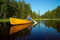 Algonquin Park, Ontario, Canada, July 2006. The Crow River connects Big Crow Lake and Lake Lavieille. The Algonquin Provincial Park consists of many lakes that can be explored by canoe and which are connected by portages. Photo by Frits Meyst/Adventure4ever.com