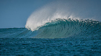 Namotu Island Resort, Nadi, Fiji (Friday, February 19 2016): The swell had dropped in size today to the 3'- 4' mark at Cloudbreak with strong South East Trade wind flow. Guests surfed Cloudbreak and Namotu Lefts during the morning before receiving the news that Tropical Cyclone Winston was heading back towards Fiji as a Category 4 cyclone. The guests began evacuating the island before the storm hit. Photo: joliphotos.com