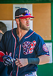23 May 2015: Washington Nationals outfielder Bryce Harper prepares to face the Philadelphia Phillies at Nationals Park in Washington, DC. The Phillies defeated the Nationals 8-1 in the second game of their 3-game weekend series. Mandatory Credit: Ed Wolfstein Photo *** RAW (NEF) Image File Available ***
