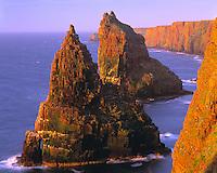 Stacks of Duncansby,   Scotland, United Kingdom   Huge seastacks on Atlantic Coast