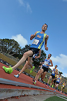Peter Meffan in action during the Athletics - NZ Track and Field Championships at Newtown Park, Newtown, New Zealand on Friday 6 March 2015. <br /> Photo by Masanori Udagawa. <br /> www.photowellington.photoshelter.com.
