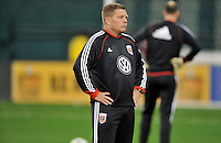 Assistant Coach Chad Ashton of D.C. United during pre-game warmups, D.C. United defeated Real Salt Lake 1-0 in their home opener, at RFK Stadium, Saturday March 9,2013.