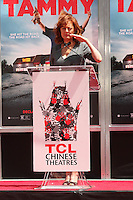 Susan Sarandon<br /> at the Melissa McCarthy Hand and Foot Print Ceremony, TCL Chinese Theater, Hollywood, CA 07-02-14<br /> David Edwards/DailyCeleb.com 818-249-4998