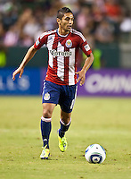 CARSON, CA – August 27, 2011: Chivas USA defender Mariano Trujillo (8) during the match between Chivas USA and Real Salt Lake at the Home Depot Center in Carson, California. Final score Chivas USA 0, Real Salt Lake 1.