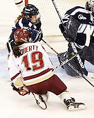 ?, Danielle Doherty (BC - 19) - The Boston College Eagles and the visiting University of New Hampshire Wildcats played to a scoreless tie in BC's senior game on Saturday, February 19, 2011, at Conte Forum in Chestnut Hill, Massachusetts.