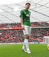 FUSSBALL   1. BUNDESLIGA   SAISON 2012/2013    31. SPIELTAG Bayer 04 Leverkusen - SV Werder Bremen                  27.04.2013 Sebastian Proedl (SV Werder Bremen) ist nach dem Abpfiff enttaeuscht