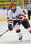 2 January 2009: St. Lawrence Saints' forward Rick Carden, a Freshman from Elk Grove Village, IL, in action against the Ferris State Bulldogs in the first game of the 2009 Catamount Cup Ice Hockey Tournament hosted by the University of Vermont at Gutterson Fieldhouse in Burlington, Vermont. The Saints defeated the Bulldogs 5-4 to move onto the championship game against the University of Vermont Catamounts...Mandatory Photo Credit: Ed Wolfstein Photo