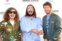 HOLLYWOOD, CA - JUNE 29: Blake Anderson, Kyle Newacheck, Anders Holm at the premiere of Mike And Dave Need Wedding Dates at ArcLight Cinemas Cinerama Dome on June 29, 2016. Credit: David Edwards/MediaPunch