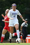 01 September 2013: Duke's Laura Weinberg (16). The Duke University Blue Devils played the University of New Mexico Lobos at Fetzer Field in Chapel Hill, NC in a 2013 NCAA Division I Women's Soccer match. Duke won the game 1-0.