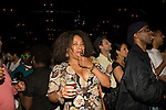 Attends Knitting Factory Presents FELA! on Broadway Original Cast Recording Release Party, Hosted by the stars of FELA!, Sahr Ngaujah and Kevin Mambo, the cast of FELA!, and host committee Jeffrey Wright, Michael Skolnik, and Rachel Goldstein at Brooklyn Bowl, Brooklyn New York  6/7/10