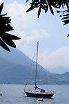 A boat on Lake Como, Italy just off of Varenna.