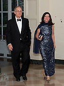 Samuel Heins and Stacey Mills, two of United States President Barack Obama's biggest campaign fundraisers, arrive for the Official Dinner in honor of Prime Minister David Cameron of Great Britain and his wife, Samantha, at the White House in Washington, D.C. on Tuesday, March 14, 2012..Credit: Ron Sachs / CNP.(RESTRICTION: NO New York or New Jersey Newspapers or newspapers within a 75 mile radius of New York City)