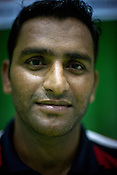 Srinivas Reddy, one of the member of the Indian Kabbadi team poses for a portrait at a month long camp in Sport Authority of India Sports Complex in Bisankhedi, outskirts of Bhopal, Madhya Pradesh, India.