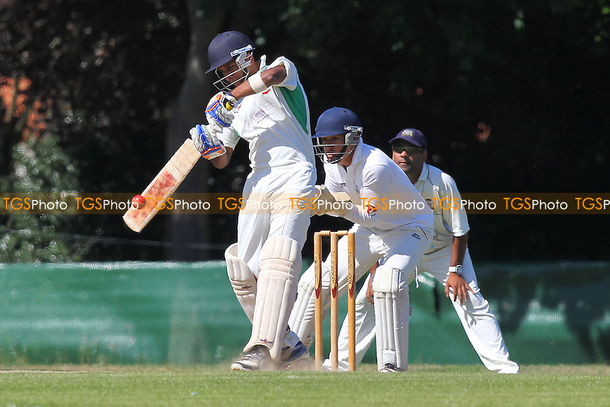 Nigel Jacobs in batting action for Ilford - Ilford CC vs Wanstead CC - Essex Cricket League at Valentines Park - 31/08/13 - MANDATORY CREDIT: Gavin Ellis/TGSPHOTO - Self billing applies where appropriate - 0845 094 6026 - contact@tgsphoto.co.uk - NO UNPAID USE
