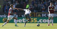 Manchester United's Marcus Rashford held back by Burnley's Jeff Hendrick<br /> <br /> Photographer Stephen White/CameraSport<br /> <br /> The Premier League - Burnley v Manchester United - Sunday 23rd April 2017 - Turf Moor - Burnley<br /> <br /> World Copyright &copy; 2017 CameraSport. All rights reserved. 43 Linden Ave. Countesthorpe. Leicester. England. LE8 5PG - Tel: +44 (0) 116 277 4147 - admin@camerasport.com - www.camerasport.com