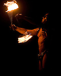 A firedancer perform before the of  burning of the man, Saturday night, Sept. 1, 2007 during the annual Burning Man Festival on the Black Rock Desert near Gerlach, Nev. This year's theme was The Green Man...Photo by David Calvert/Nevada Sagebrush