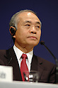 Sony President Ryoji Chubachi attends a press confernnce at the company's headquarters in Tokyo on Friday night. Sony said that Chubachi is stepping down as president, and Howard Stringer, chairman and chief executive, will stay on, adding the presidency as another title. 27 February, 2009. (Taro Fujimoto/JapanToday/Nippon News)