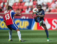 SANDY, UT - July 13, 2013: Belize National Team forward Evan Mariano (6) during the Costa Rica vs Belize match at Rio Tinto Stadium in Sandy, Utah. Final score Costa Rica 1, Belize 0.