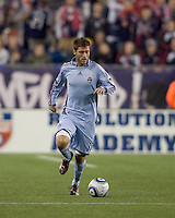 Colorado Rapids midfielder Colin Clark (11). The Colorado Rapids defeated the New England Revolution, 2-1, at Gillette Stadium on April 24, 2010.