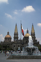 The Plaza de la Liberacion and cathedral in downtown Guadalajara, Mexico