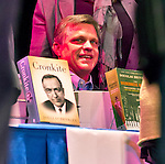 "Oct. 8, 2012 - Hempstead, New York, U.S. - DOUGLAS BRINKLEY signed his books, including ""Cronkite"" and ""The Reagan Diaries,"" for the audience after he spoke at Hofstra University about ""The Evolution of U.S. Presidential Debates: From G. Washington to B. Obama."" This lecture was part of ""Debate 2012 Pride Politics and Policy"" a series of events leading up to when Hofstra hosts the 2nd Presidential Debate between Obama and M. Romney, on October 16, 2012, in a Town Meeting format."