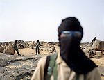 """Tuareg rebels of the """"Democratic Alliance for Change""""  near the village of Boughessa, Northern Mali, July 2008"""