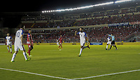 Panama City, Panama - March 28, 2017: The U.S. Men's National team take the lead 1-0 over Panama from a goal by Clint Dempsey with an assist from Christian Pulisic in a 2018 World Cup Qualifying Hexagonal match at Estadio Rommel Fernandez.