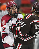Phil Zielonka (Harvard - 72), Joey de Concilys (Brown - 11) - The visiting Brown University Bears defeated the Harvard University Crimson 2-0 on Saturday, February 22, 2014 at the Bright-Landry Hockey Center in Cambridge, Massachusetts.