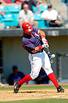18 March 2006: Royce Clayton, infielder for the Washington Nationals,hits a home run during a Spring Training game against the New York Mets at Space Coast Stadium, in Viera, Florida. The Nationals defeated the Mets 10-2 in Grapefruit League play...Mandatory Photo Credit: Ed Wolfstein Photo..