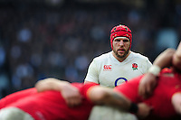 James Haskell of England looks on. RBS Six Nations match between England and Wales on March 12, 2016 at Twickenham Stadium in London, England. Photo by: Patrick Khachfe / Onside Images