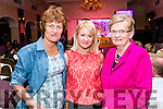 Emir Hogan, Aileen Leahy and Helen Leahy pictured at the John Mitchel's Strictly Come Dancing at the Ballygarry House Hotel on Sunday night.