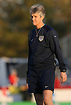 01 November 2008: U.S. head coach Pia Sundhage (SWE). The United States Women's National Team defeated the South Korea Women's National Team 3-1 at University of Richmond Stadium in Richmond, VA in a women's international friendly soccer match that was part of the U.S. team's post-Olympic Achieve Your Gold tour.