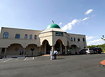 """Waterbury, CT- 19 May 2017-051917CM03-  The Masjid Al Mostafa mosque is shown during a grand opening in Waterbury on Friday.  """"It's a blessing from God, to have a nice beautiful place of worship.  It's wonderful."""" said Naveed Khan, vice chairman of the Islamic American Society of Connecticut.  The days events featured a private prayer service, then a celebration with local dignities and members of the community.  Christopher Massa Republican-American"""