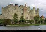 Black Swans, Leeds Castle, Maiden's Tower, Kent, England