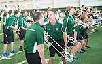 The Marching 110 performs at the dedication of the Walter Fieldhouse. The Marching practices regularly in the new facility. Photo by Ben Siegel/ Ohio University