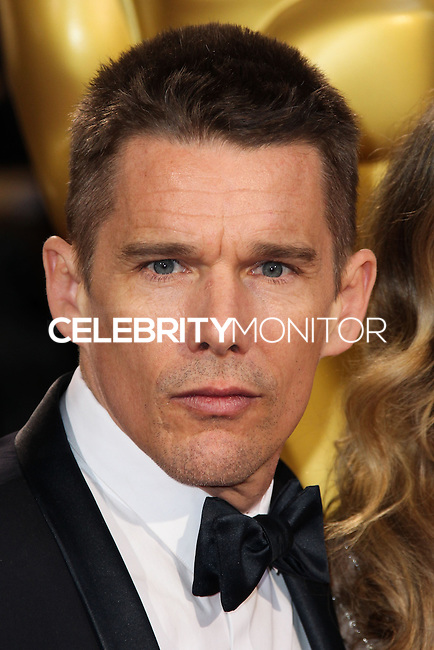HOLLYWOOD, CA, USA - MARCH 02: Ethan Hawke at the 86th Annual Academy Awards held at Dolby Theatre on March 2, 2014 in Hollywood, Los Angeles, California, United States. (Photo by Xavier Collin/Celebrity Monitor)