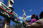 Families enjoy the Beetle Bounce ride outside the Lost Kingdom Adventure in Legoland in Whitehaven, Florida on February 11, 2012.
