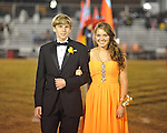 Senior maid Amber Adams (right) with escort Justin Simmons at Lafayette High vs. Tunica Rosa Fort in Oxford, Miss. on Friday, October 5, 2012. Lafayette High won 35-6.