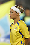 12 August 2008: Sara Thunebro (SWE).  The women's Olympic team of Sweden defeated the women's Olympic soccer team of Canada 2-1 at Beijing Workers' Stadium in Beijing, China in a Group E round-robin match in the Women's Olympic Football competition.